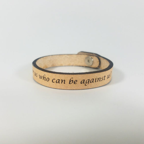 Spiritual Quote Bracelets - If God is for us who can be against us - Romans 8:31