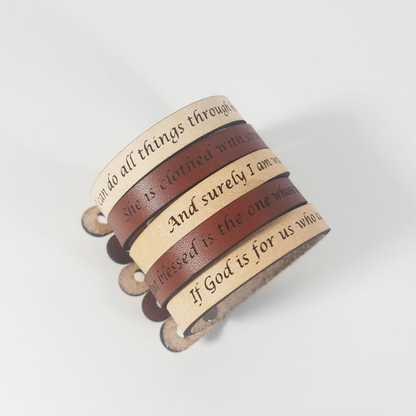 Spiritual Quote Bracelets - But blessed is the one whose trust is in the LORD - Jeremiah 17:7
