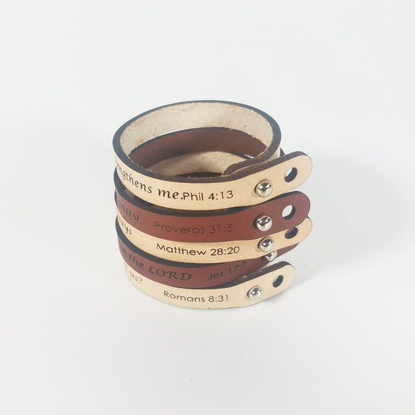 Spiritual Quote Bracelets - And surely I am with you always - Matthew 28:20