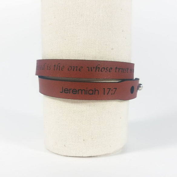 Spiritual Wrap Bracelets - But blessed is the one whose trust is in the LORD - Jer 17:7