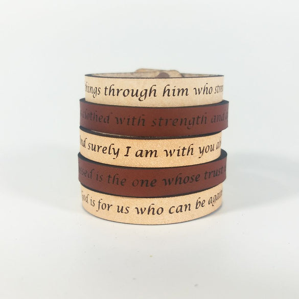 Spiritual Quote Bracelet - faith hope love
