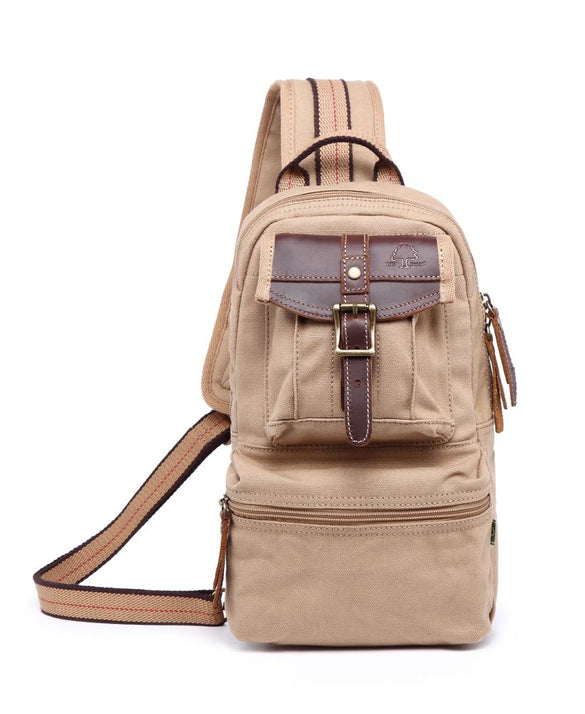 Turtle Ridge Canvas Sling Bag