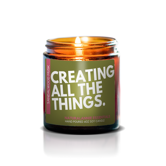 CREATING ALL THE THINGS: Sandalwood & Musk Scented Soy Candle