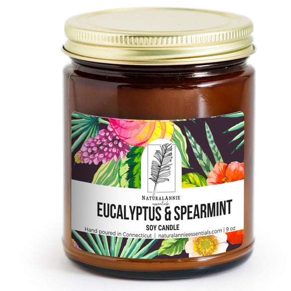 EUCALYPTUS & SPEARMINT Scented Soy Candle