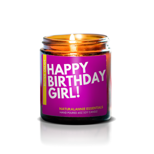Happy Birthday Girl! Soy Candle - Butter and Cream