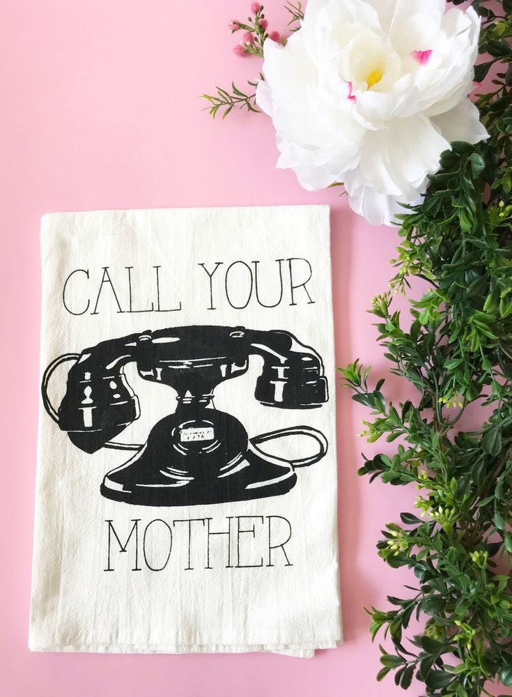 Call Your Mother Vintage Cotton Kitchen Towel