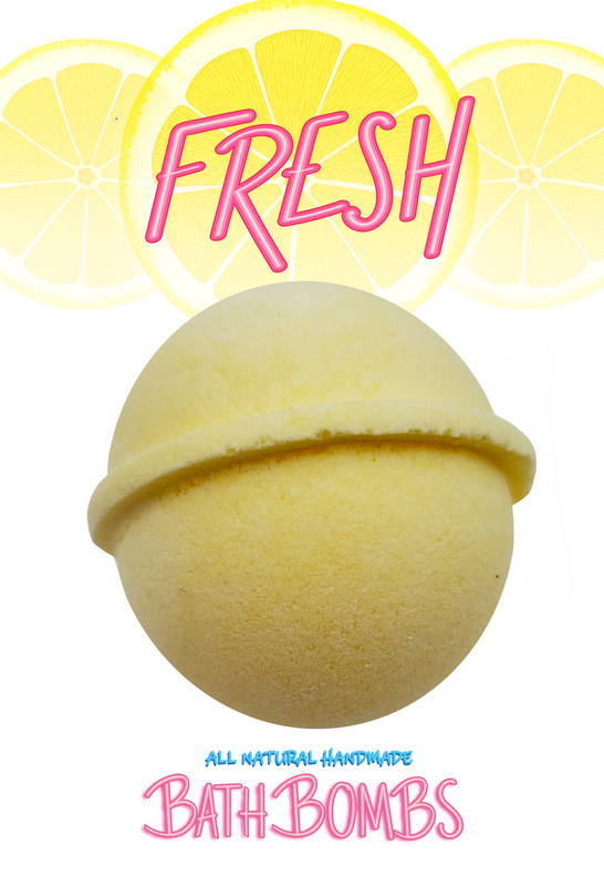 #Fresh Bath Bomb - yellow