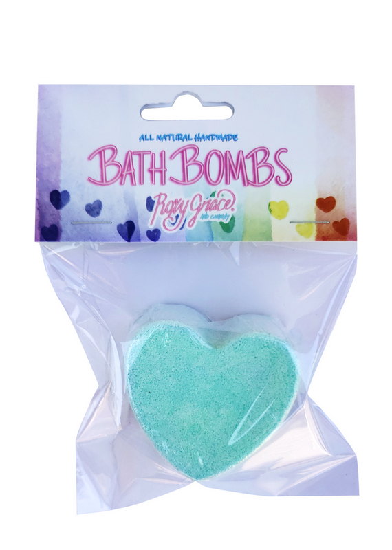Green Heart Bath Bomb - Love Collection