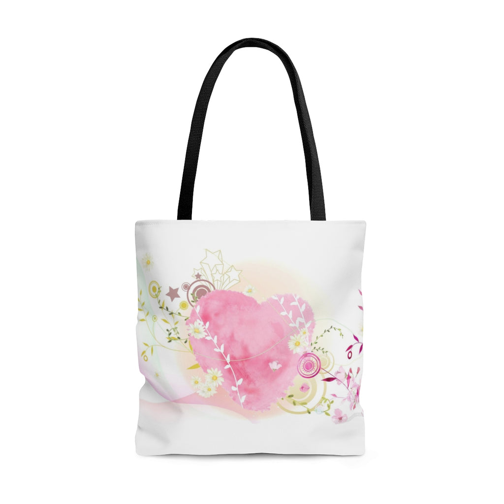 Soft Heart Floral Tote Bag - B Inspired Boutique