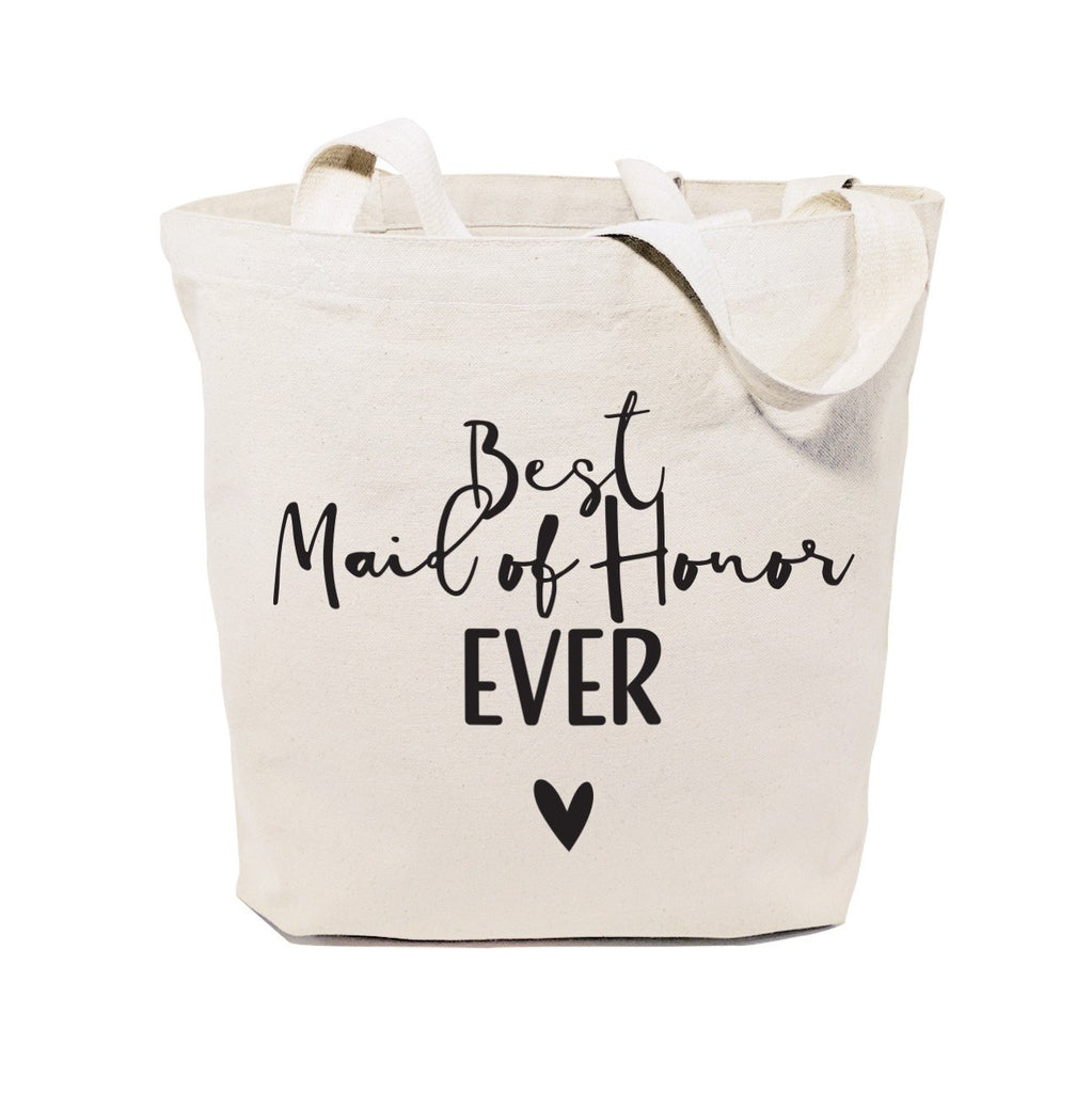 Best Maid of Honor Ever Wedding Cotton Canvas Tote Bag - B Inspired Boutique