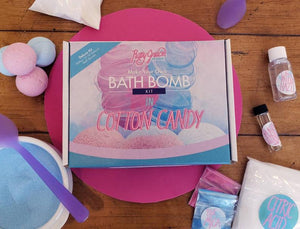 DIY Cotton Candy Deluxe Bath Bomb Kit