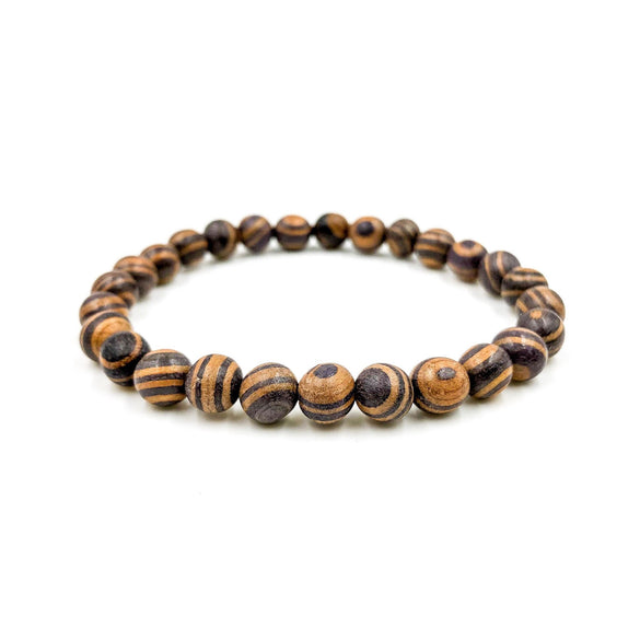 Union | Zebra Rosewood Beaded Bracelet