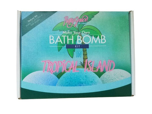 DIY Tropical Island Deluxe Bath Bomb Kit