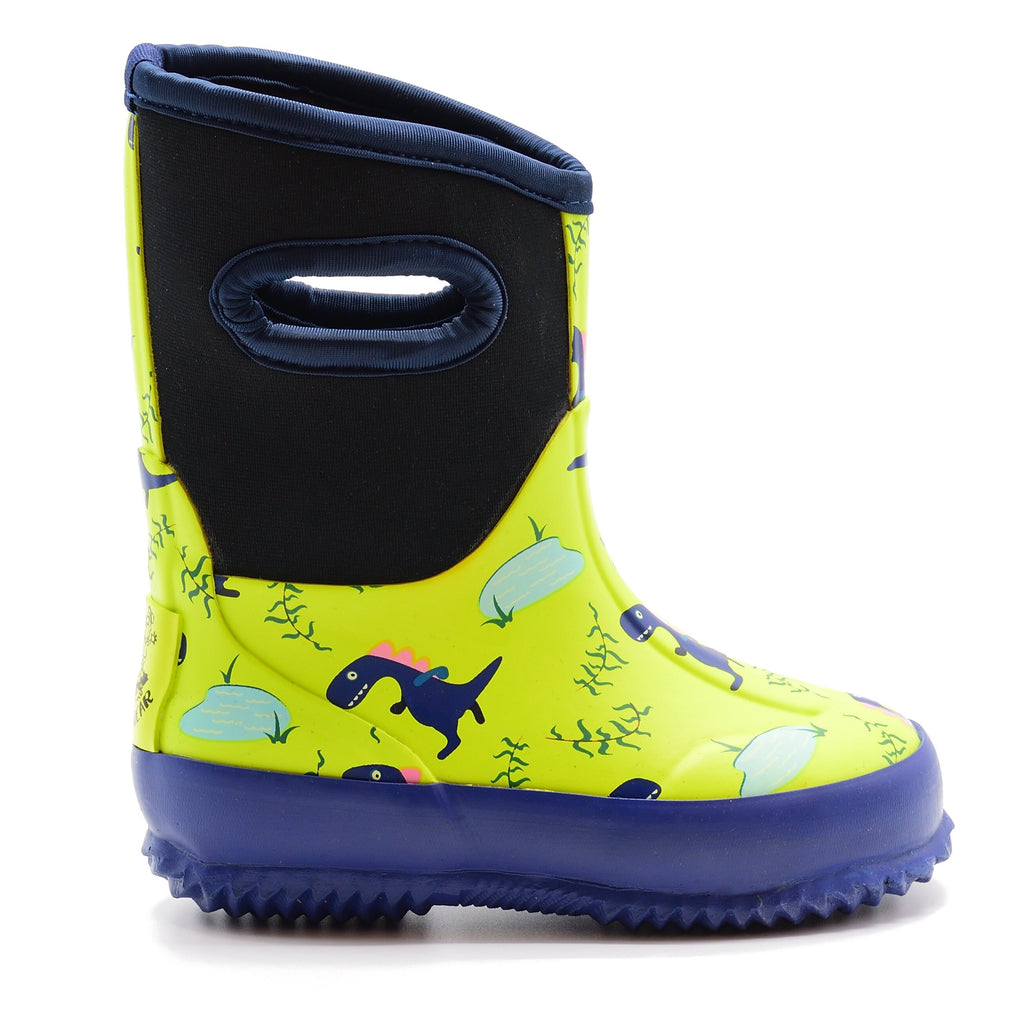 Neoprene Boot - Blue Dinosaur