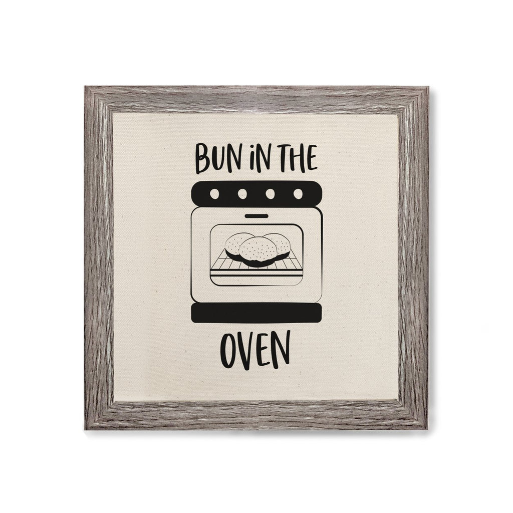 Bun in the Oven Print Canvas Kitchen Wall Art, Home Decor, Kitchen Print, Modern Art, Cook Gift, Hostess Gift, Housewarming, Gift for Her, Handmade - B Inspired Boutique