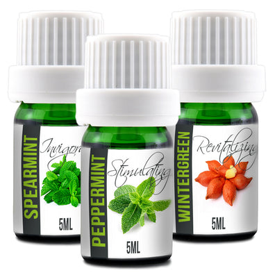 Essential Oils Set - 5ML Peppermint, Spearmint, Wintergreen (Mint Pack) - B Inspired Boutique