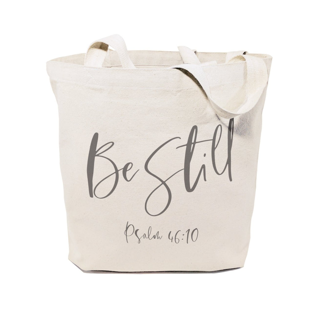 Be Still, Psalm 46:10 Cotton Canvas Tote Bag