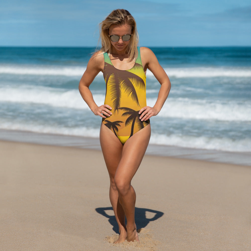 Palm Oasis One-Piece Swimsuit - B Inspired Boutique