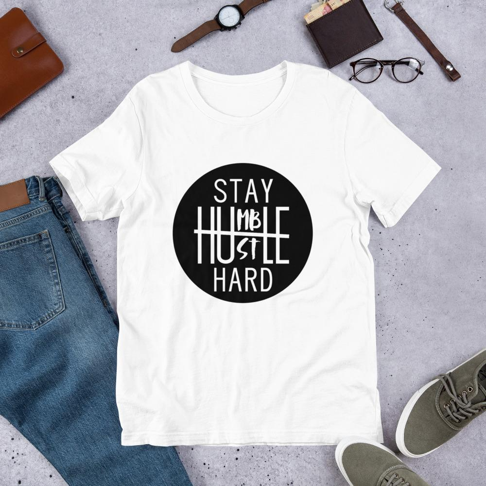 Stay Humble Hustle Hard Ladies T-Shirt - B Inspired Boutique