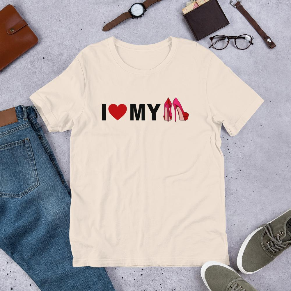 I Love my Heels Ladies T-Shirt