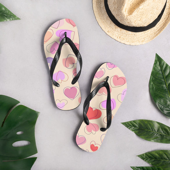 Happy Hearts Flip-Flops - B Inspired Boutique