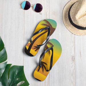 Palm Sunset Flip-Flops - B Inspired Boutique