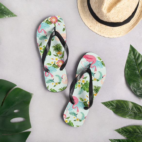 Flamingo Love Flip-Flops - B Inspired Boutique