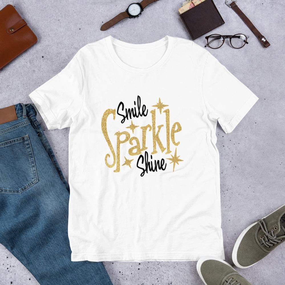 Smile Sparkle Shine Ladies T-Shirt - B Inspired Boutique