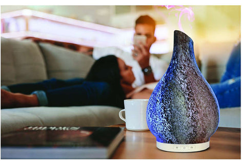 MOON STONE | Aromatherapy Essential Oil Diffuser | Cool Mist Ultrasonic Humidifier - B Inspired Boutique