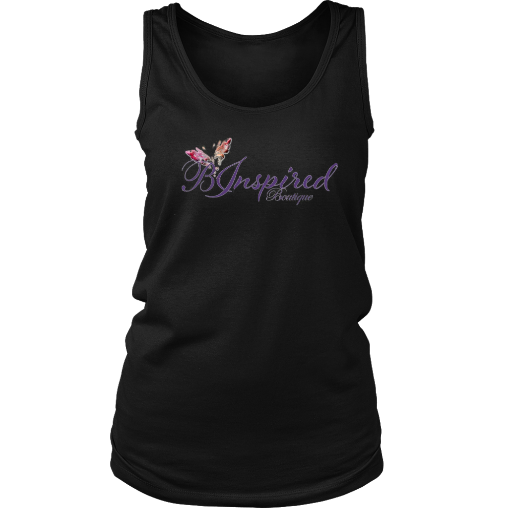 B Inspired Boutique Official Muscle Tank Long Logo - 3 Colors - B Inspired Boutique