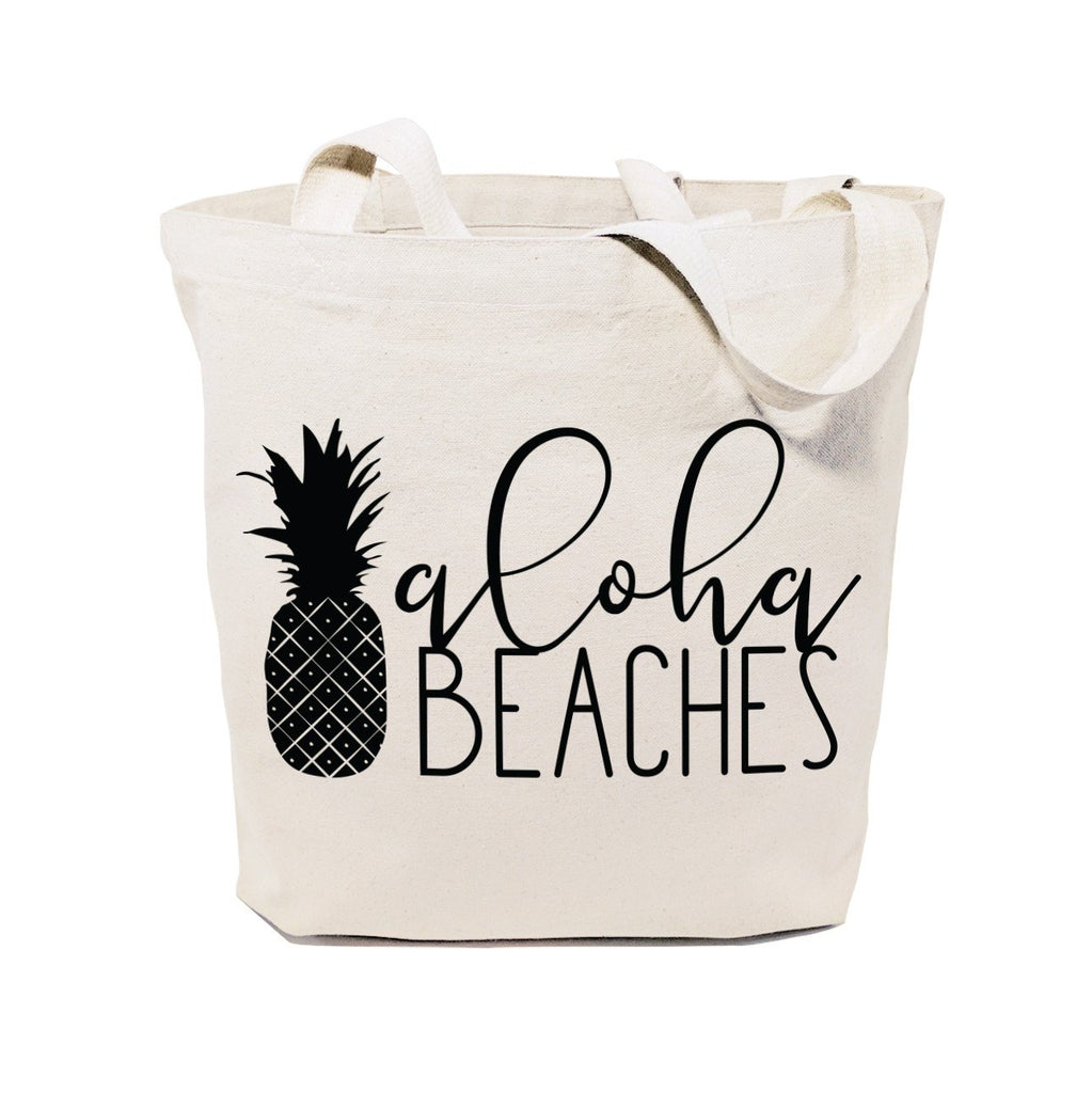 Aloha Beaches Cotton Canvas Tote Bag - B Inspired Boutique