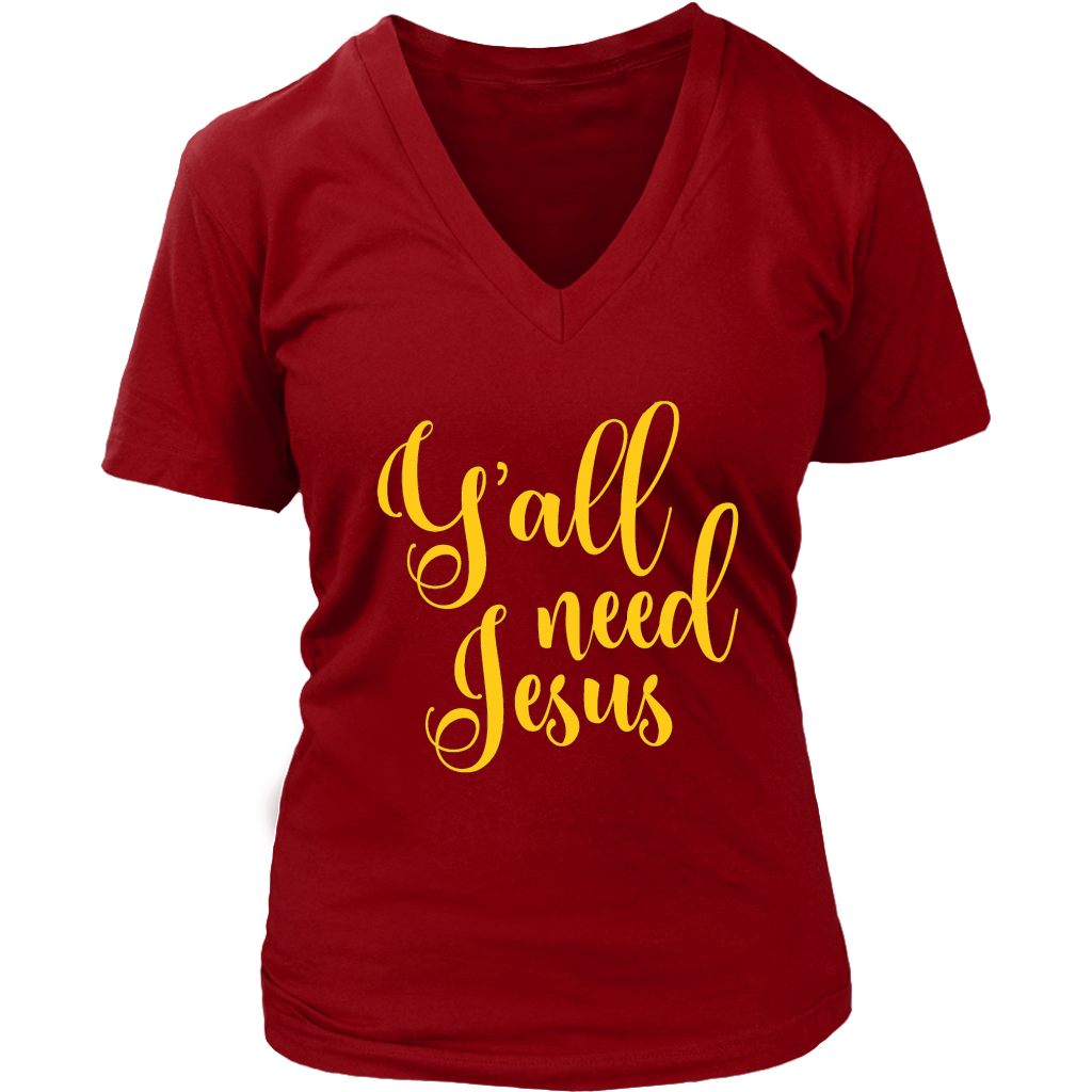 Y'all Need Jesus Ladies Tee - 4 Colors - B Inspired Boutique