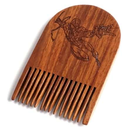 Spiderman Wooden Beard Comb