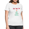 Ho Ho Ho Merry Christmas Women's T-Shirt - white