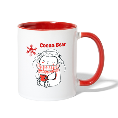 Cocoa Bear Holiday Coffee Mug - white/red
