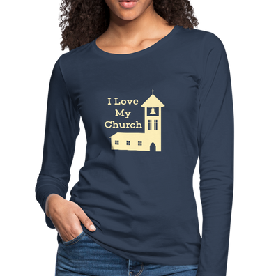 I love our Church Premium Long Sleeve T-Shirt - navy