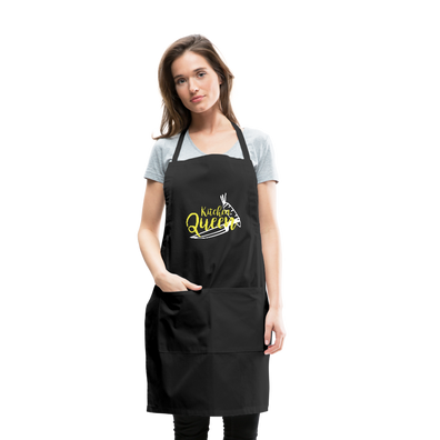 Kitchen Queen Adjustable Apron - black