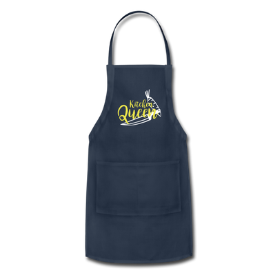Kitchen Queen Adjustable Apron - navy