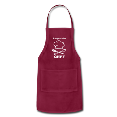 Respect the CHEF Adjustable Apron - burgundy