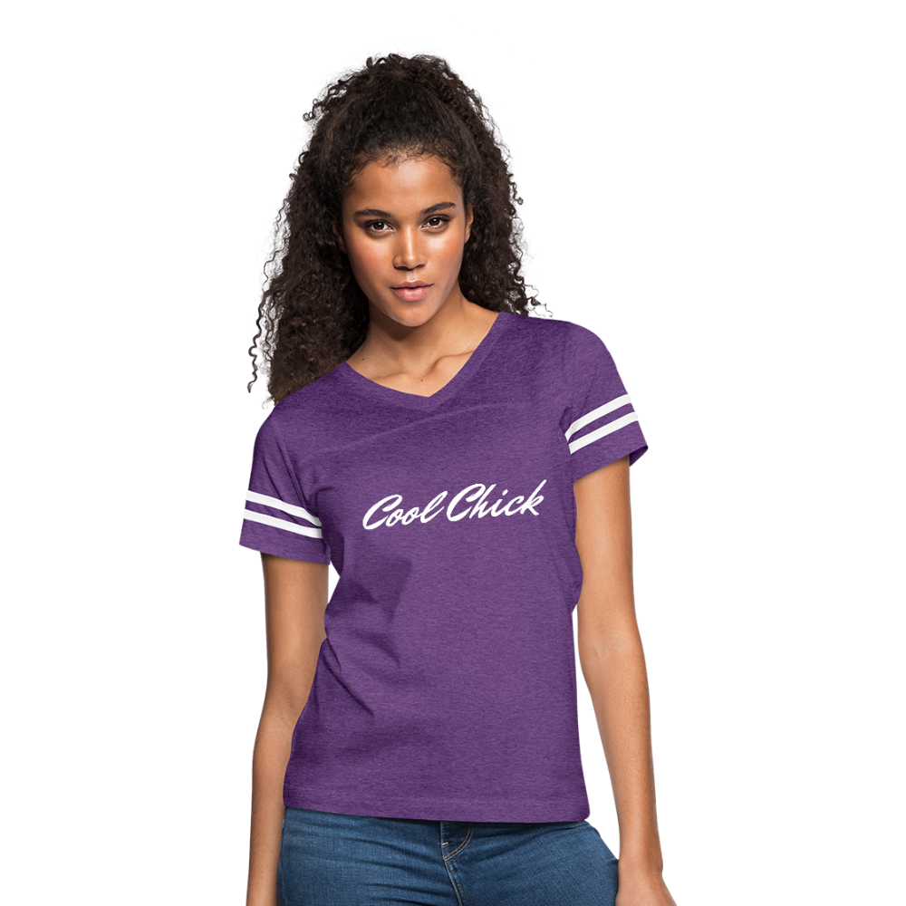 Cool Chick Vintage Striped Sport T-Shirt - Purple - B Inspired Boutique
