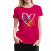 Heart Splatter Women's Premium T-Shirt - dark pink