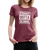 Straight Outta School Women's Premium T-Shirt - heather burgundy