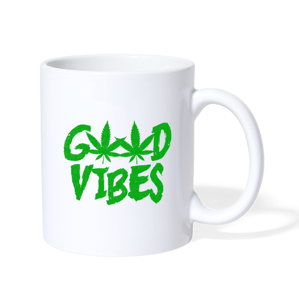 Good Vibes Hemp Mug - white