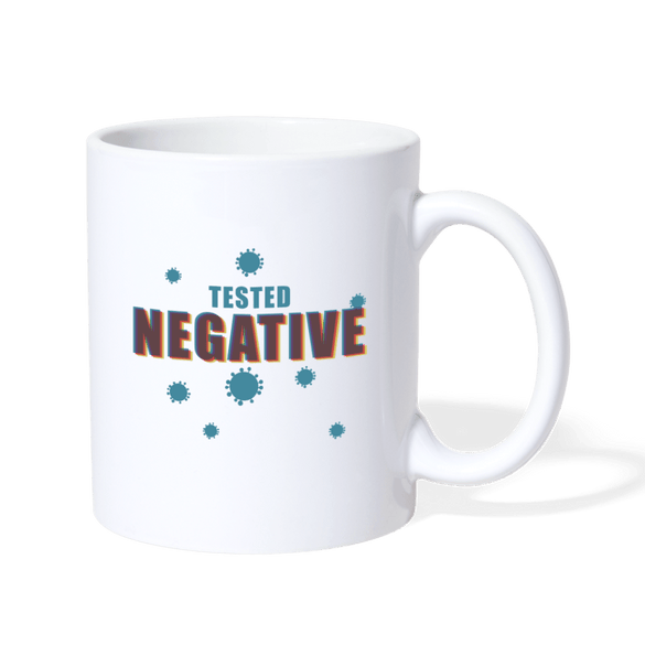 Tested Negative Mug - white