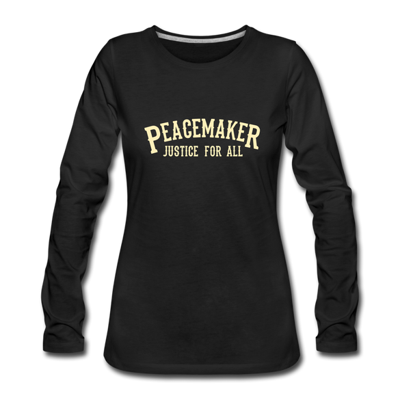 Peace Maker Women's Premium Long Sleeve T-Shirt - black
