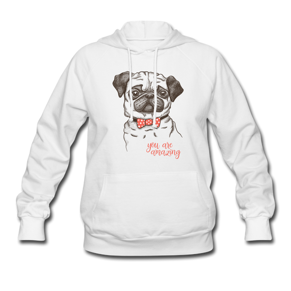 You are Amazing Dog Women's White Hoodie - white