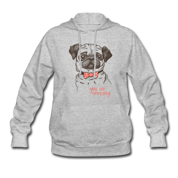 You are Amazing Dog Women's White Hoodie - heather gray
