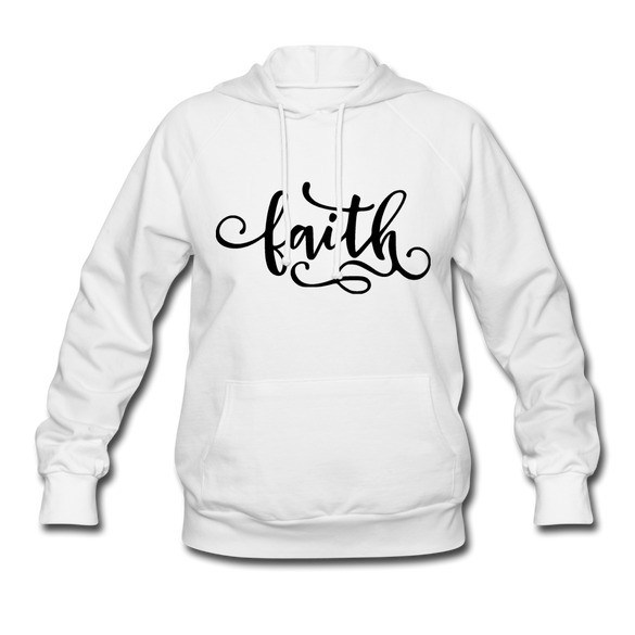 Faith Women's Hoodie - white