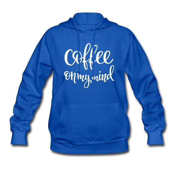 Coffee on my Mind Women's Hoodie - royal blue