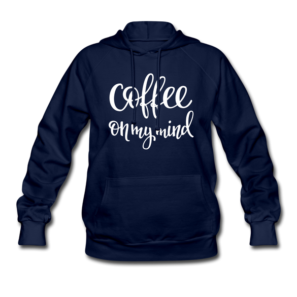 Coffee on my Mind Women's Hoodie - navy